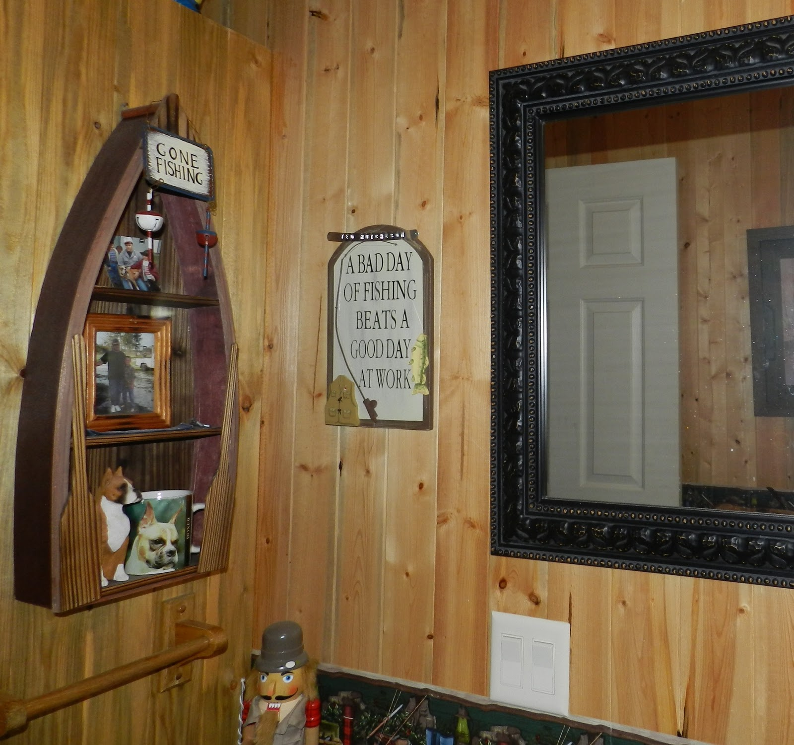 Lodge Themed Bathroom Decor: SweetPepperRose: Gone Fishing Theme Bathroom