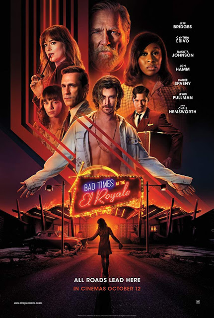 Bad Times at the El Royale 2018 movie poster Jeff Bridges Chris Hemsworth Dakota Johnson