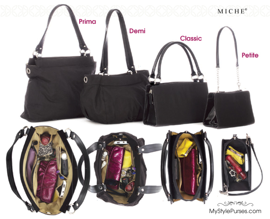What fits in a Miche Bag - Prima, Demi, Classic & Petite