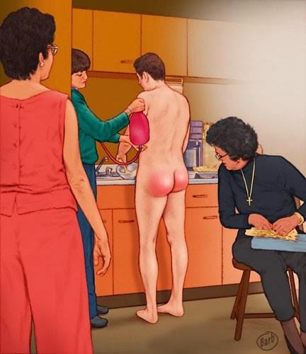 Nackt Prügel und Einlauf Pornostar