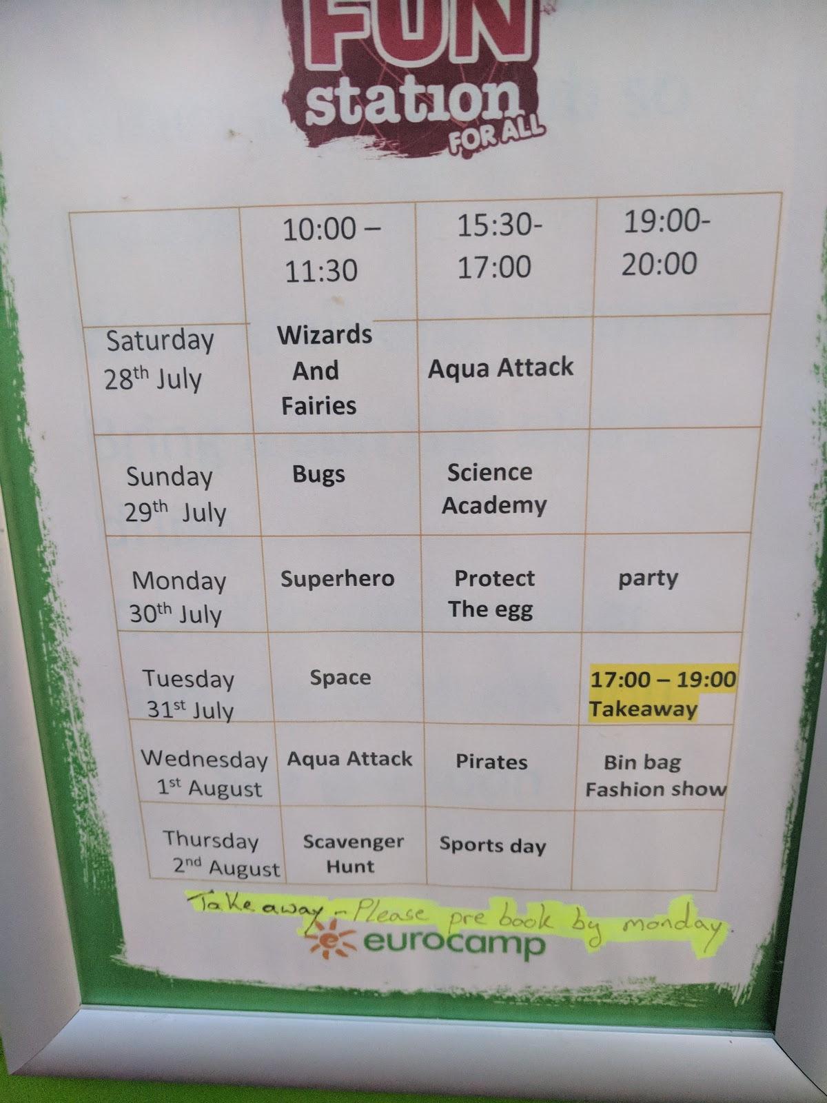 Les Ecureuils Campsite, Vendee - A Eurocamp Site near Puy du Fou (Full Review) - kids club activity schedule