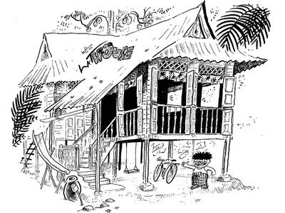 Gambar Rumah Kartun Animasi Rumah Nisya