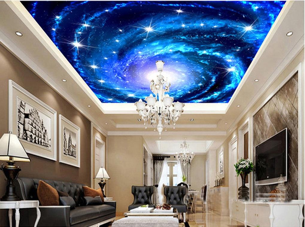 Tranh trần nhà xuyên sáng 3d