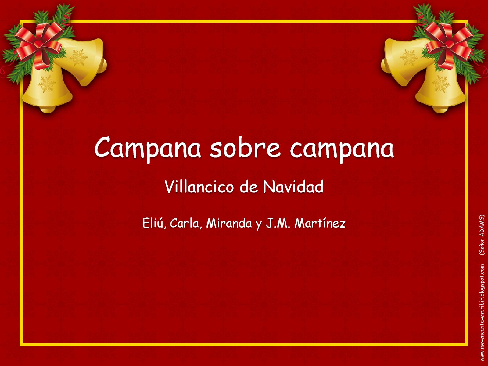 Me Encanta Escribir En Español Canción Campana Sobre Campana