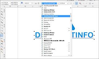 Cara Mengakifkan Menu Text Tool CorelDRAW X4 Lengkap Penjelasan Menunya Secara Rinci