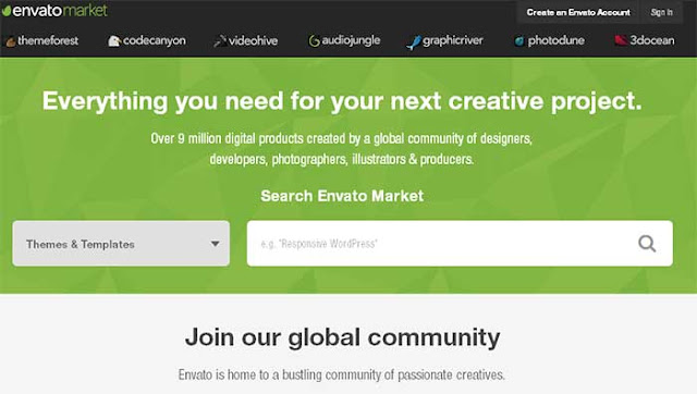 Top 10 Affiliate Programs for Bloggers : Envato Market Affiliate program : Devil Coded