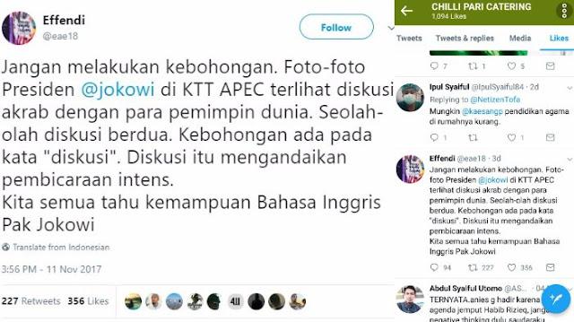Jokowi Disebut Bohong Di KTT APEC