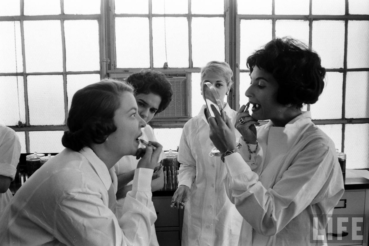 Back In The 1950s Lipstick Testing Was The Best Job In