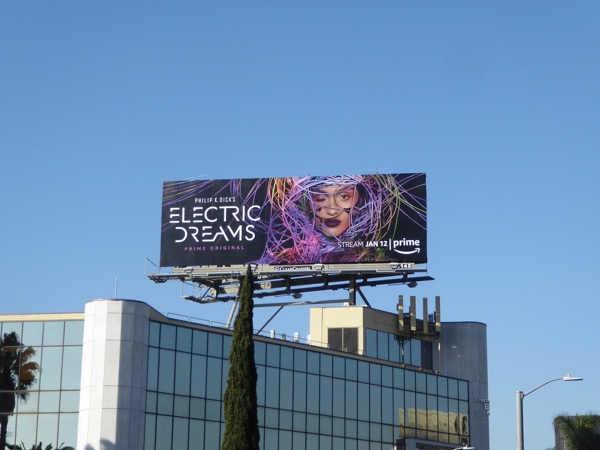 Electric Dreams series launch billboard