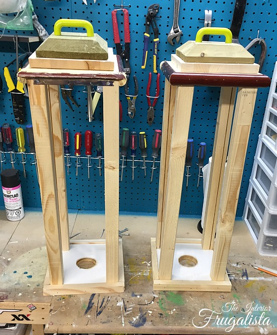 Large DIY Outdoor Scrap Wood Holiday Lanterns Base