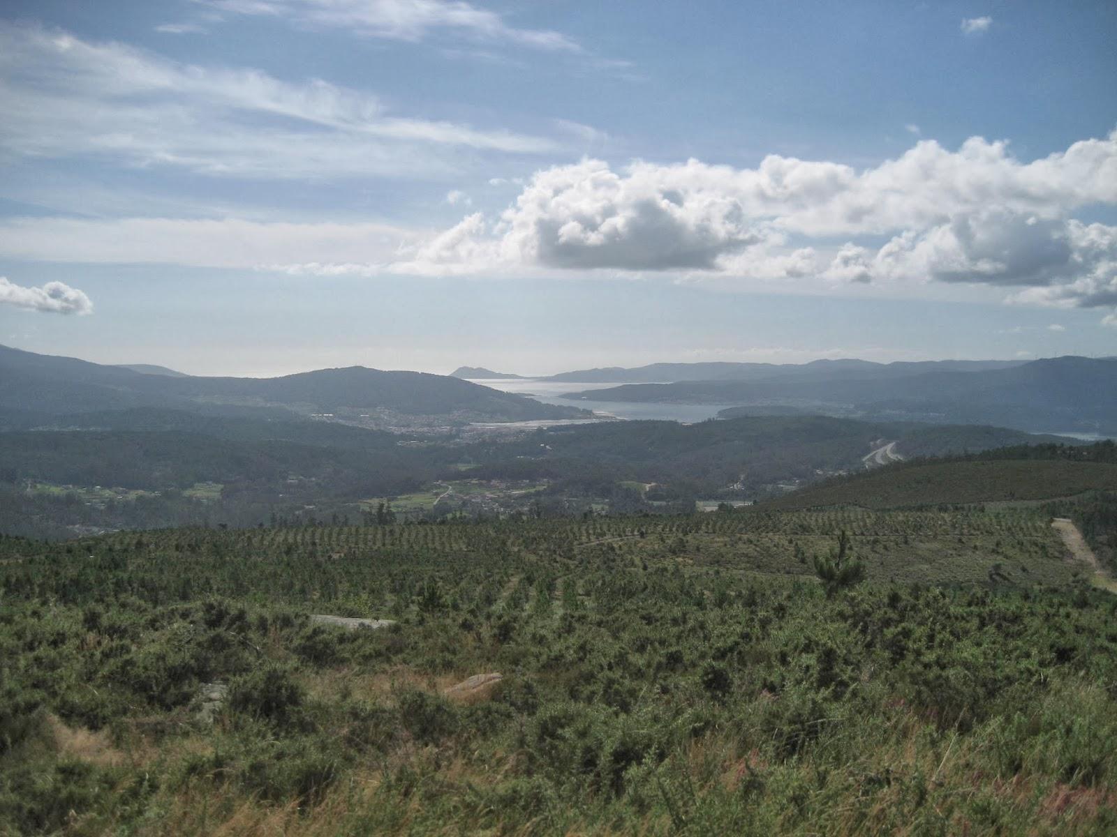 Vistas desde el Monte Culou en Lousame