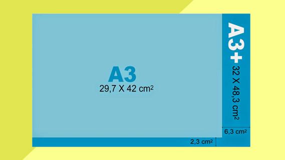 Ukuran Kertas A3 Plus dalam CM