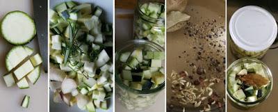Zubereitung Zucchini, sauer eingelegt