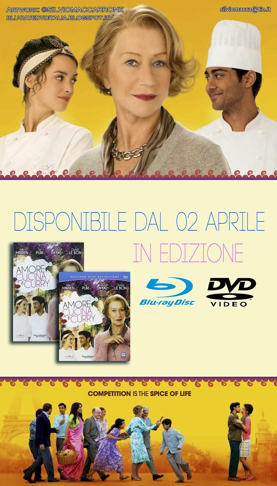 Blu Ray Dvd Italia Amore Cucina E Curry Con Helen Mirren Disponibile In Edizione Blu Ray E Dvd Dal 02 Aprile 2015