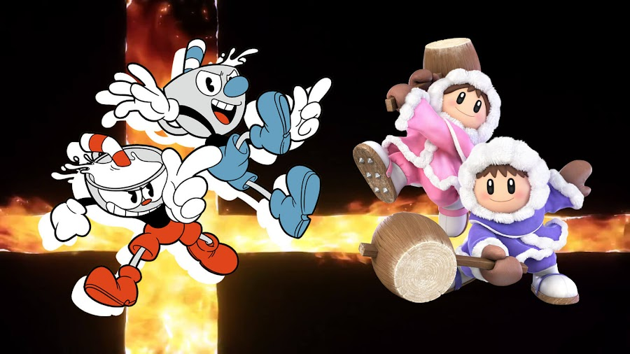 cuphead mugman ice climbers smash ultimate