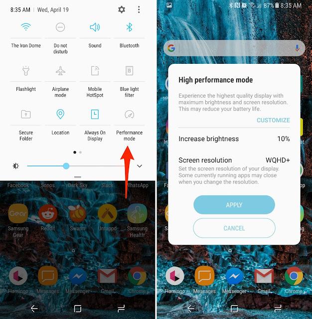 Cara menghemat baterai Samsung S8