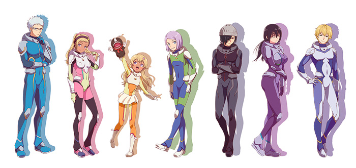 Astra: Lost in Space anime - personajes