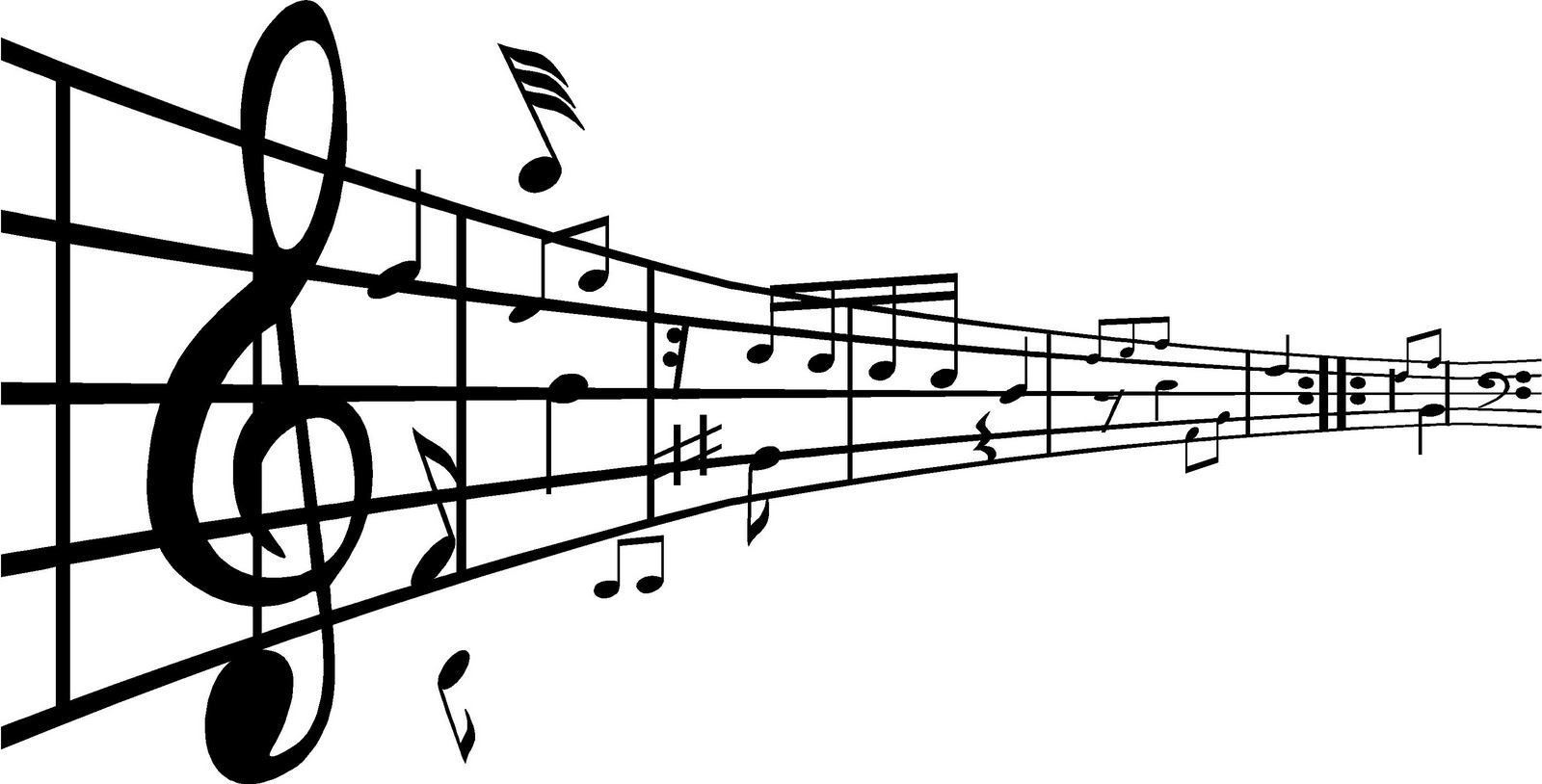 Notas musicales convertidas en palabras