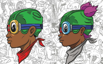 """Beyond Kirby"" Flyboy & Lil Momma Screen Prints by Hebru Brantley x Vertical Gallery x POP!NK Editions"