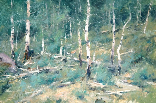 "by Matt Smith, ""Boulder mountain Aspens"" - oil 