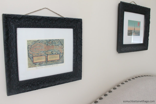 easy way to frame postcards www.somuchbetterwithage.com