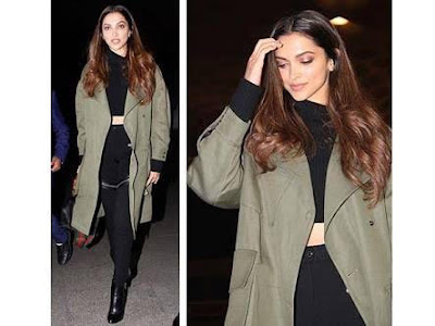 10 Jackets Donned By Deepika Padukone green