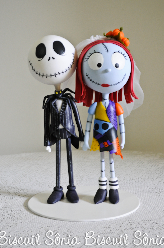 Jack Skellington e Sally Nightmare Before Christimas Biscuit