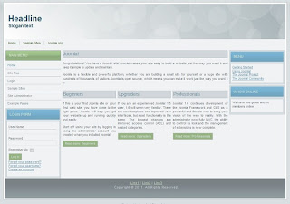 clean joomla 1.7 templates
