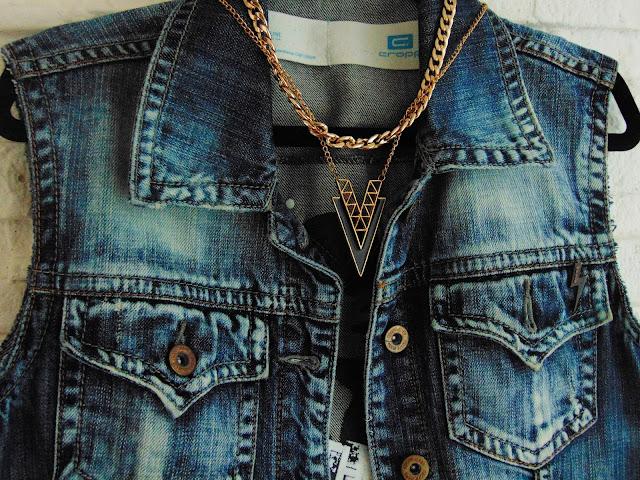 kamizelka z kurtki jeansowej DIY