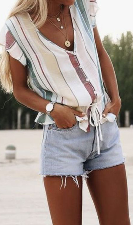 Trending And Cool Short Pants Outfit Summer #shortpantsoutfit