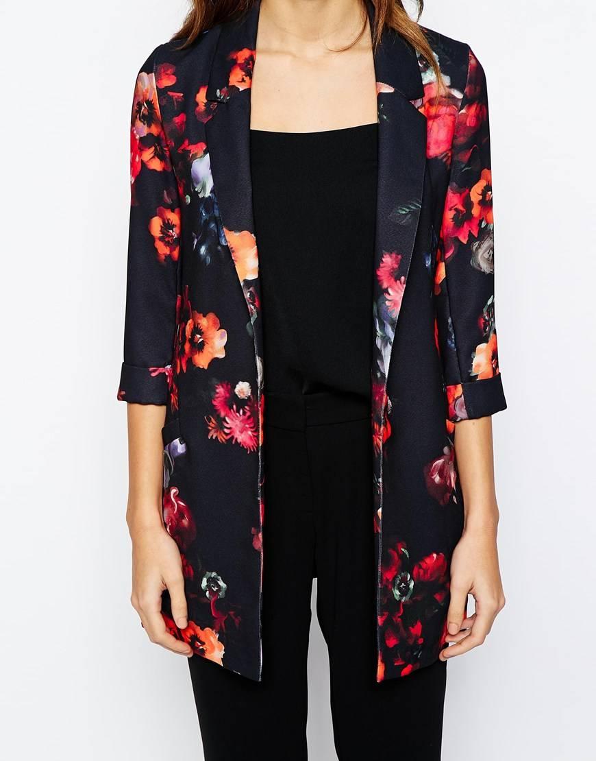 mode femme la veste imprim fleuri pour cette saison printemps t 2015. Black Bedroom Furniture Sets. Home Design Ideas