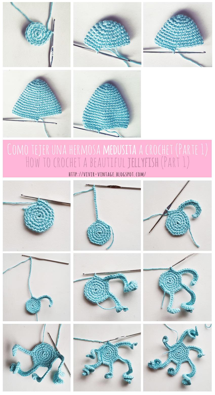 Como tejer una hermosa y dulce medusita en crochet (Amigurumi ...