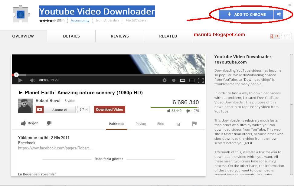 Youtube Video Downloader Google Chrome Extension  MSR