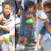 Kelly Rowland gives her son a new hairstyle..he's so cute!