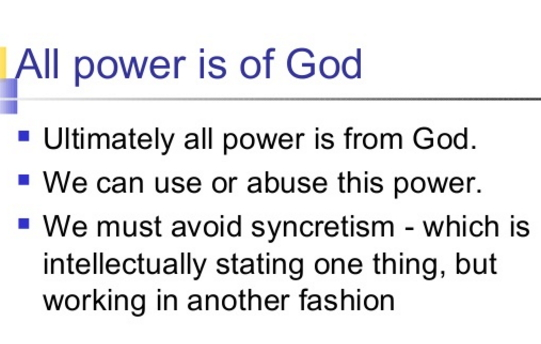 abuse spiritual powers