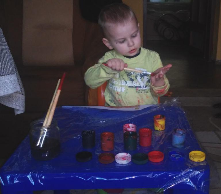 zabawy z dzieckiem malowanie