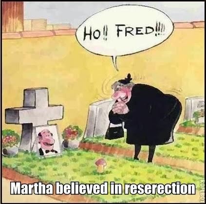 Funny Resurrection Reserection Ho Fred Cartoon Joke Picture