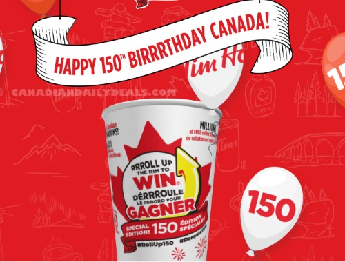 Tim Hortons RRRoll Up The Rim To Win Canada 150 Edition