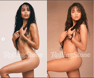 Zoe Kravitz Poses Naked For Rolling Stone Magazine And Recreates Her Mom Lisa Bonet's Shoot From 30 Years ago (Photos)