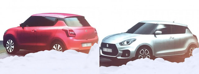 2017 Maruti Suzuki Swift red & white