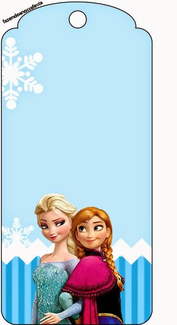 Marcapaginas de Frozen en Navidad Azul.