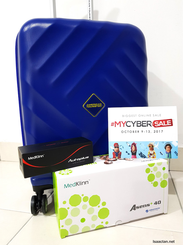 Thank you MedKlinn and American Tourister for the awesome air purifiers and luggage bag!