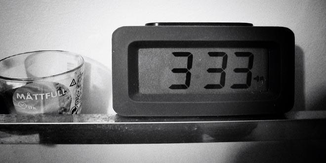 3:33 am - La hora de los demonios y los espíritus.