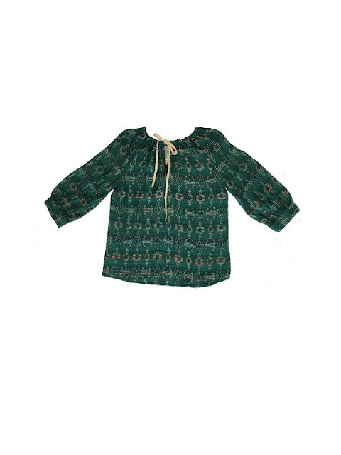 Ace & Jig Rosa Top in Emerald/Sky