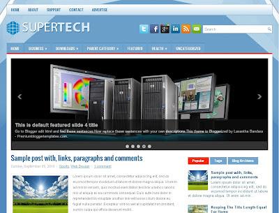 SuperTech Blogger Template