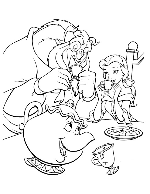 tranh tô màu công chúa Disney 9