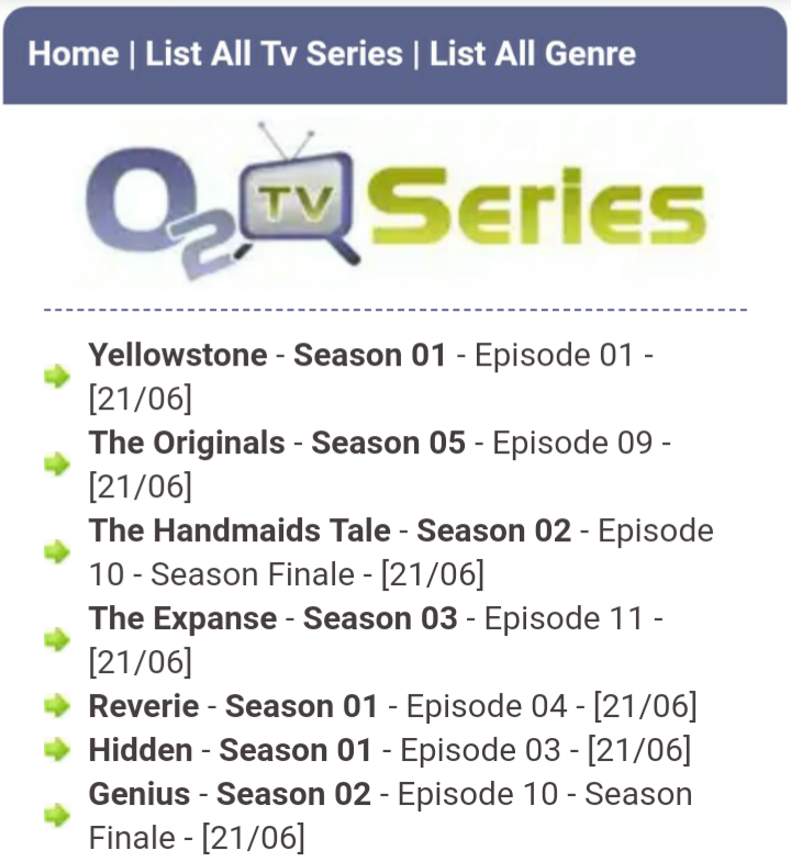 O2TVSeries 2019: Download unlimited TV Series, TV Shows, Season