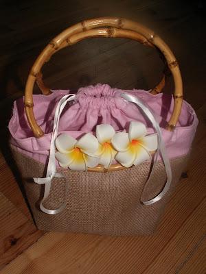 handbag, hand sewn handbag, aloha beach bag