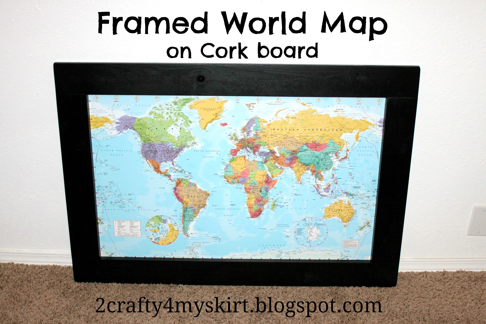 Map cork board cork board map 1 framed map1 gumiabroncs Image collections